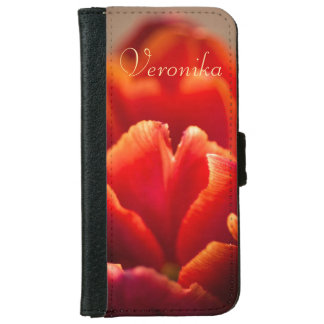 Red tulip iPhone 6 wallet case