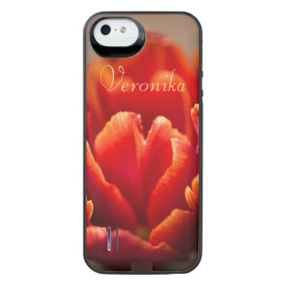 Red tulip iPhone SE/5/5s battery case
