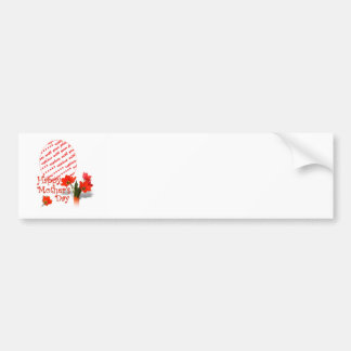 Red Tulip Photo Frame for a Happy Mothers Day Bumper Stickers