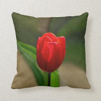Red Tulip Spring Flower Cushion