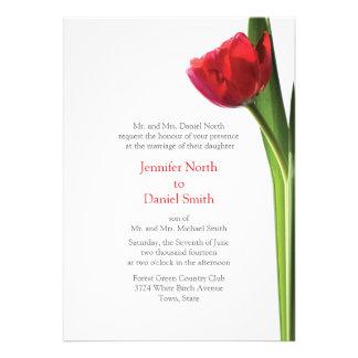 Red Tulip Wedding Invitations