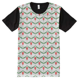 Red Tulips All-Over Print T-Shirt