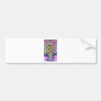 red tulips bumper stickers