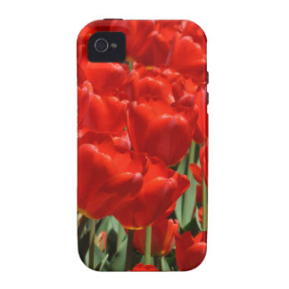 Red Tulips Case-Mate iPhone 4 Cover