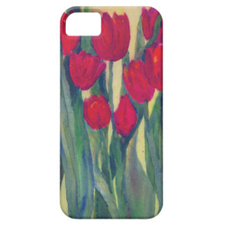 Red Tulips Case For The iPhone 5