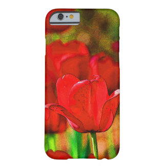 Red Tulips Customizable Barely There iPhone 6 Case