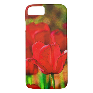 Red Tulips Customizable iPhone 7 Case