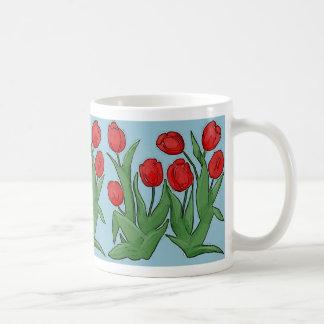 Red Tulips Digital Painting Mug