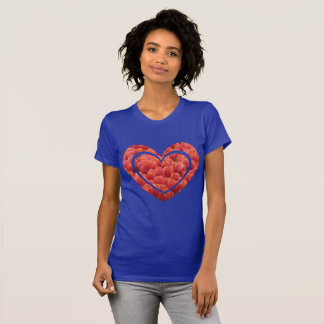 Red Tulips Field Heart App. T-Shirt