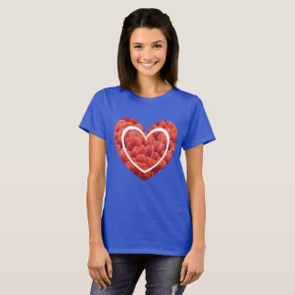 Red Tulips Field Heart Basic T-Shirt