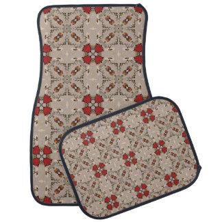 Red tulips floor mat