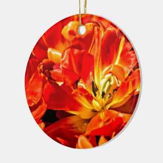Red Tulips Flowers Christmas Ornament