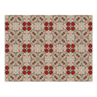 Red tulips geometric postcard
