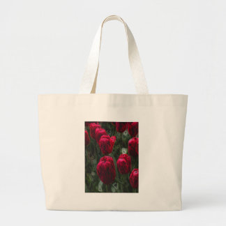 Red Tulips Large Tote Bag