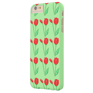 Red Tulips Light Green iPhone 6/6s Plus Case Barely There iPhone 6 Plus Case