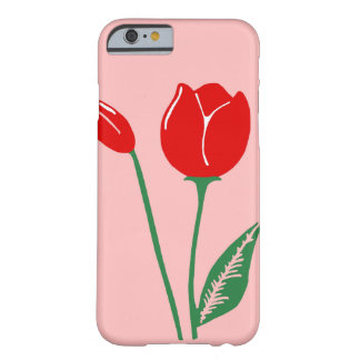 Red Tulips Light Pink iPhone 6 Case Barely There iPhone 6 Case