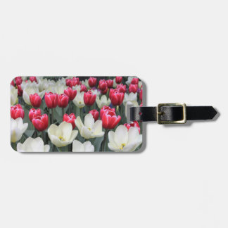 Red Tulips Luggage Tag Personalized