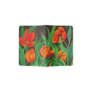 Red Tulips Passport Holder