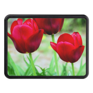 Red Tulips Tow Hitch Covers