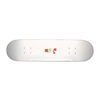 Red tulips skate board deck