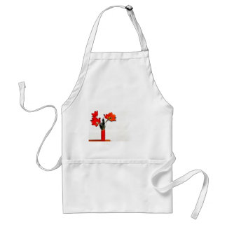 Red Tulips to the Side Aprons
