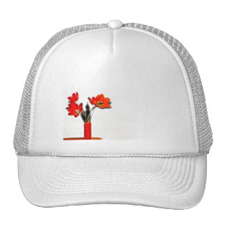 Red Tulips to the Side Trucker Hats