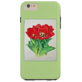 Red Tulips Tough iPhone 6 Plus Case