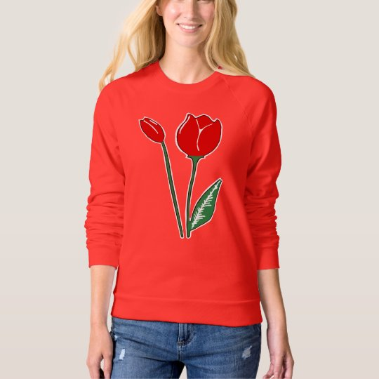 Red Tulips Women's Raglan Sweatshirt