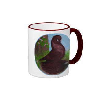 Red Tumbler Circle Ringer Mug