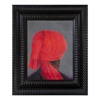 Red Turban on Grey 2014 (Framed) Poster