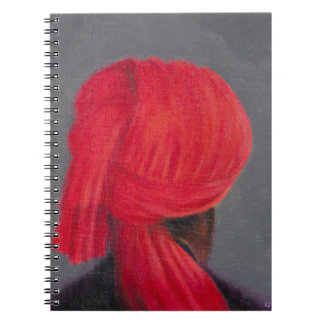 Red Turban on Grey 2014 Notebook