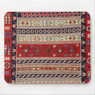 Red Turkish Rug Design Mouse Pad