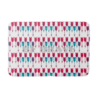 Red Turquoise Arrows Tribal Boho Feather Bohemian Bath Mats