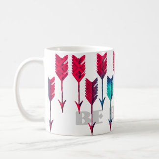 Red Turquoise Arrows Tribal Boho Feather Bohemian Coffee Mug