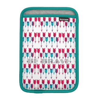 Red Turquoise Arrows Tribal Boho Feather Bohemian iPad Mini Sleeve