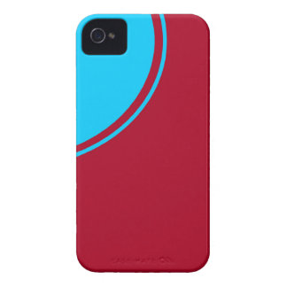 red turquoise circle iPhone 4 covers