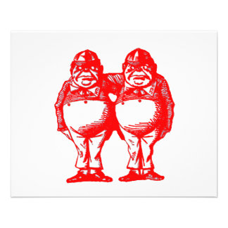 Red Tweedle Dee & Tweedle Dum 11.5 Cm X 14 Cm Flyer