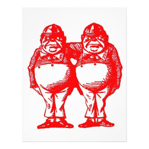 Red Tweedle Dee & Tweedle Dum Full Color Flyer