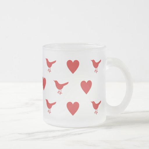 Red Tweetheart Frosted Mug