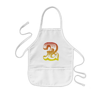 Red Two Kids Apron
