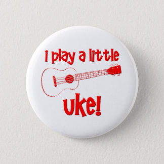Red Ukulele 6 Cm Round Badge