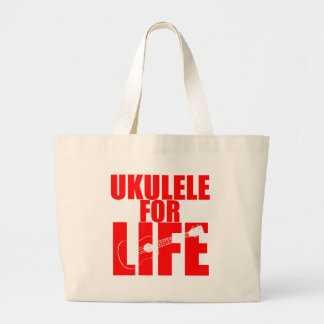 Red Ukulele Large Tote Bag