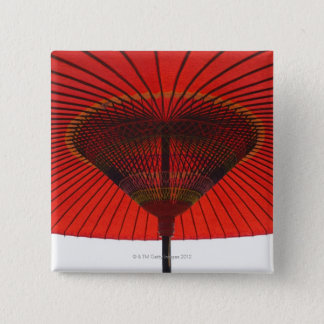 Red umbrella 2 15 cm square badge