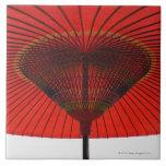 Red umbrella 2 large square tile