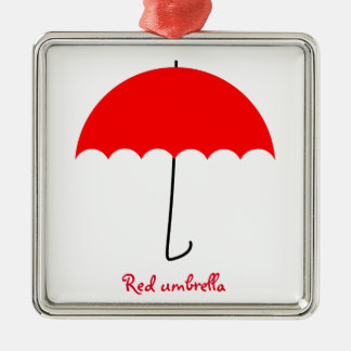 Red umbrella christmas ornament