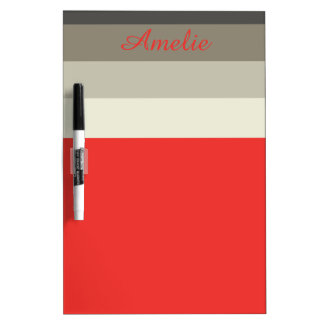 Red Umbrella Palette Stripes Personalized Dry Erase Board