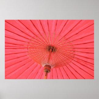Red umbrella print