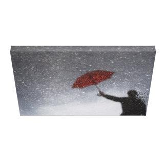 Red Umbrella Reflection canvas