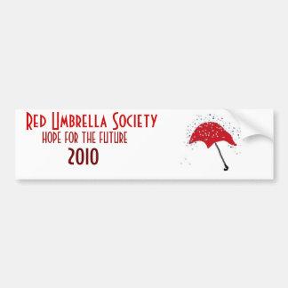 Red Umbrella Society Car Bumper Sticker
