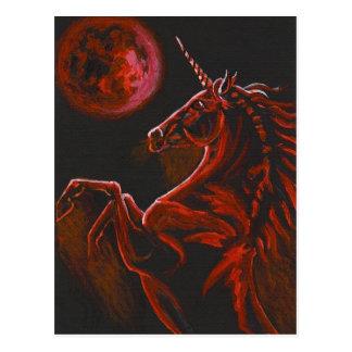 Red Unicorn 2 Postcard